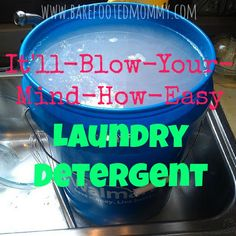 DIY HE liquid laundry detergent : 1 cup Borax  1 cup Arm & Hammer Washing Soda (NOT BAKING SODA)  1 bar of grated Ivory, Fels Nappa, Zote, or Dr. Bronner's  1 5 gallon bucket  drill with mixing attachment would be handy. 5 gallons for a few dollars. Not bad.