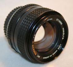 Minolta MC ROKKOR-X 50mm PG 1.4 fast camera lens , film SLR, Micro 4/3 digital..
