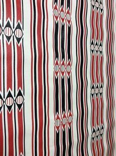 """Vintage 1970's 1sheet vinyl mod geometric wallpaper 94"""" Long By 26 1/2"""" Wide"""