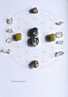 ONENESS GRID framed crystal grid with sacred geometry