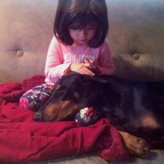 And just hang together. | The Friendship Between A Kid And Her Dog Will Melt Your Heart