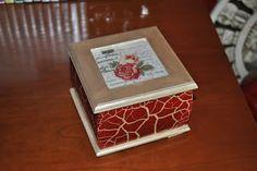 Ideias da Bébéu (Em reconstrução): Caixa de madeira pintada à mão com a técnica de Cr...