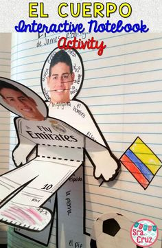 El Cuerpo Interactive Notebook Activity for Spanish interactive notebooks and body parts
