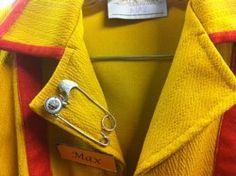 "Literally ""pin it."" - Max's diner uniform."