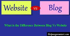 The basic difference between a blog and a website is theoretically the difference in how data is b...