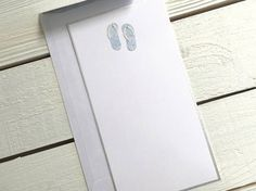 Handmade Flip-Flop Stationery Beach Note Cards Set of 8
