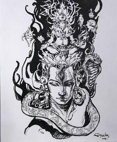 Paramchaintanya Men: Fotos Kali Tattoo, Shiva Tattoo Design, Shiva Shambo, Rudra Shiva, Krishna, Morpheus Sandman, Lord Shiva Sketch, Mahadev Tattoo, Shiva Angry