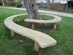 Image result for how to build curved wood bench