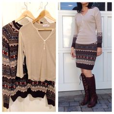 It's definitely sweater weather right now. Early mornings are chilly and makeme wantto refashion something that is warm and cozy. I came across this photo on Macy's.com and immediately said to ...