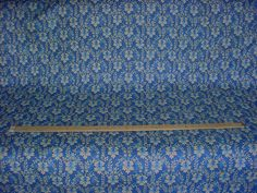 3-1/2 yards Jane Shelton 4037-1 Colette in Blue - French Floral Luxury Linen Print Upholstery Drapery Fabric - Free Shipping