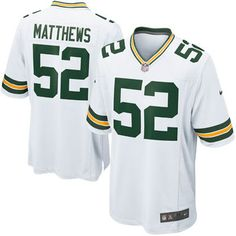 3e9582f56 Mens Green Bay Packers Clay Matthews Nike White Game Jersey - Size S Green  Bay Packers