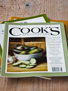 Cooks Illustrated. Great stocking stuffer from Momma Bell last year! There are also several Cools illustrated cookbooks. Those would be a great gift too.