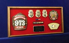 Firefighter retirement gift made by ShadowBoxUSA.com