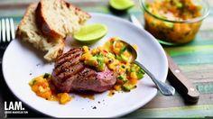 Gegrilde lamssteaks met pikante mangosalsa | VTM Koken