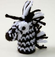 The Zebra Finger Puppet is great fun all on it's own, or as part of the complete Jungle Finger Puppets Set! Get free patterns for them all on Moogly today!