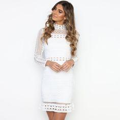 Vintage White Lace O-Neck Dress - Uniqistic.com