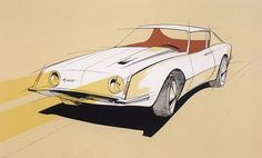 Production sketch for the 1963 Avanti