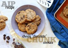 "flame to fork: AIP Chewy ""Chocolate"" Chunk Cookies (grain-free, egg-free, nut-free, dairy-free)"