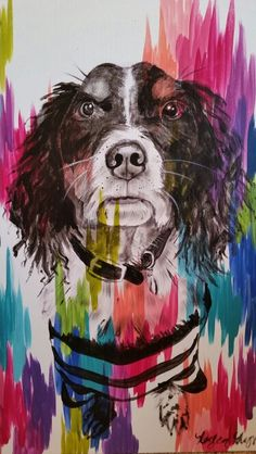 Murphy on chromatic strokes canvas by Lezley Lynch Designs, Edmond, OK