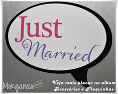 Plaquinha Just Married
