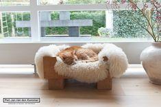 Leuke kattenmand van steigerhout
