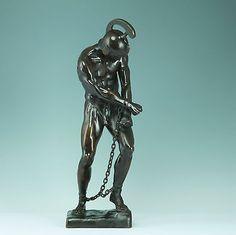 Große Bronze-Skulptur, Otto Schmidt-Hofer, Krieger in Ketten/Sklave Limit:3200 €