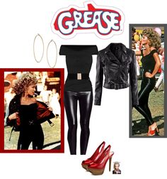 """""""DIY Grease Halloween Costume"""" by jessicaleila ❤ liked on Polyvore"""