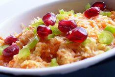 k o n y h a t ú r a: Édesburgonya szuflé Risotto, Grains, Rice, Ethnic Recipes, Food, Red Peppers, Essen, Yemek, Jim Rice