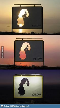 Hair dye ad. Clever advert