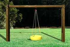 Planet Playgrounds Free Standing Wooden Tire Swing Bay
