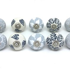 Details About Blue Ceramic Door Knobs MIX U0026 MATCH Vintage Shabby Chic  Handles Cupboard Drawer | Kitchen Dreams | Pinterest | Shabby Chic  Furniture, ...