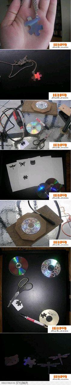 DIY Old CD Necklace DIY Projects | UsefulDIY.com