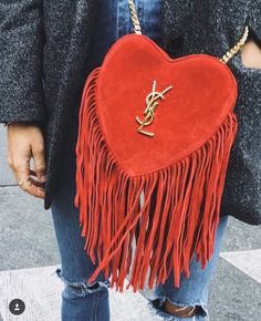 It's not Valentines yet but I'm going crazy over this YSL heart bag. It's the perfect purse for date night. Hermes Handbags, Purses And Handbags, Designer Handbags, Luxury Handbags, Leather Handbags, Givenchy, Bucket Bag, Cute Bags, Mode Inspiration