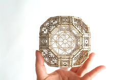 3D Laser Cut Sacred Geometry Model Kit of by ThomasHouhaDesigns