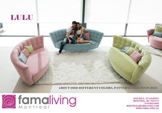 Sofas to enjoy at home. At Fama, more than design, our main aim is producing very comfortable sofas and armchairs. Funky Sofa, Comfortable Sofa, Furniture Collection, Floor Chair, Montreal, Different Fabrics, Bean Bag Chair, Sofas, Armchair