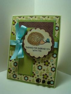 Thanks for Sharing by BernieB - Cards and Paper Crafts at Splitcoaststampers