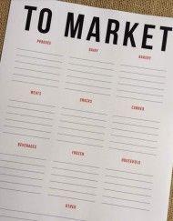 Grocery List Template designcorral.com #grocerylist #grocerylisttemplate #groceryprintable