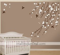 Birds Garden Flower Wall Sticker