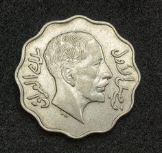 Iraq Coins - 4 Fils Coin of 1931 AD / AH 1349, King Faisal I.