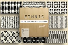 Ethnic Seamless Vector Patterns by Youandigraphics on @creativemarket
