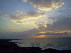 sunset at Dafnia coast - Misurata - Libya - by Yousef Backoush