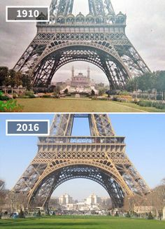 Eiffel Tower and 10 More Photos That Show Famous Landmarks Over Time
