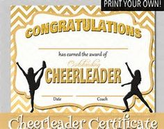 cheerleading certificate templates free - image result for free printable cheerleading award