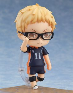 From the popular anime series and manga 'Haikyu!!' comes a Nendoroid of the Karasuno High School Volleyball Team's 'Clever Blocker ' - Kei Tsukishima! He comes with three expression parts including a