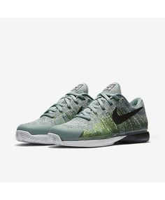 45dc637dfe37 NikeCourt Zoom Vapor 9.5 Flyknit Cannon Electric Green Enamel Green Black  Mens Shoes