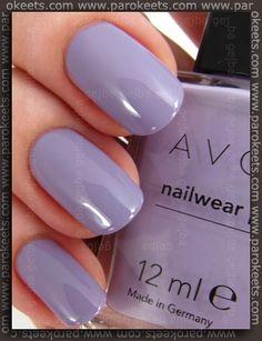 Avon Nailwear Pro Nail Enamel in Loving Lavender. youravon.com/mohare