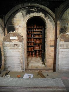 This is the middle of three chambers in John Leach's Kiln