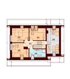 Rzut DN Lisandra XS CE Floor Plans, How To Plan, Case, House Floor Plans