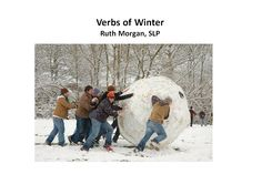 Chapel Hill Snippets: Verbs of Winter--New Printable Interactive Book
