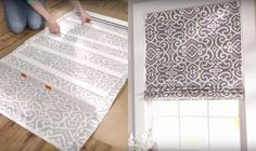 Turn Regular Blinds Into DIY Roman Shades | DIY Cozy Home